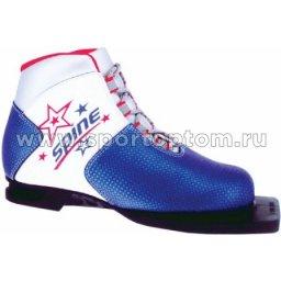 Ботинки лыжные 75 SPINE Kids синтетика  м299/1 30 Бело-сине-красный