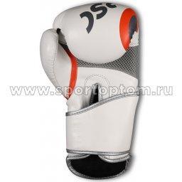Перчатки боксёрские RSC PU 2t c 3D фактурой 2018-3 Бело-серо-оранж (3)