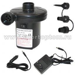 Насос электрический 220V/12V сеть/прикуриват, д/колёс,матр НТ202 Черный