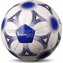 Мяч футбольный Футзал №4 INDIGO SERGIO тренировочный N006 Бело-Синий