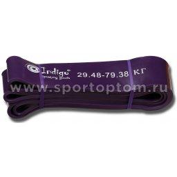 Эспандер латексная петля сопротивления Кроссфит INDIGO 601 HKRBB 208*6,4см Фиолетовый