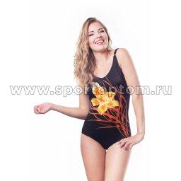 Купальник для плавания женский слитный SHEPA  Amelia Коричневый