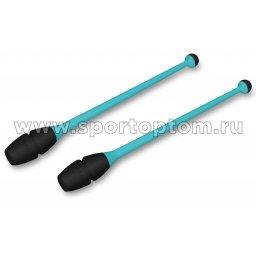 Булавы для художественной гимнастики вставляющиеся INDIGO IN017 36 см Бирюзово-черный
