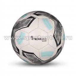 Мяч футбольный №2 INDIGO SNOW тренировочный (PU SEMI) Сувенирный IN029 Бело-серо-голубой
