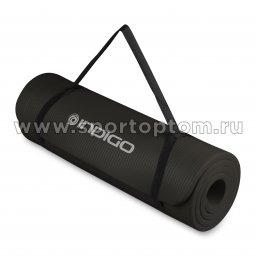Коврик для йоги и фитнеса INDIGO NBR IN104 Черный (3)