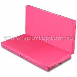 Мат гимнастический складной SM-108  Розовый