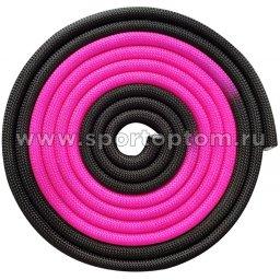 Скакалка для художественной гимнастики утяжеленная двухцветная INDIGO 165 г IN165 3 м Розово-черный