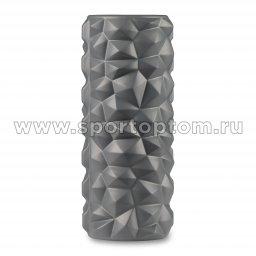Ролик массажный для йоги INDIGO PVC IN279 серый (2)