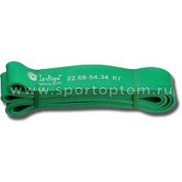 Эспандер латексная петля сопротивления Кроссфит INDIGO 601 HKRBB 208*4,4см Зеленый