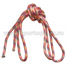 Скакалка гимнастическая (веревочная) Утяжеленная INDIGO ЛЮРЕКС (11)
