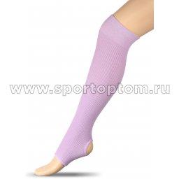 Гетры для гимнастики и танцев INDIGO Хлопок ЛВ5 45 см Сиреневый