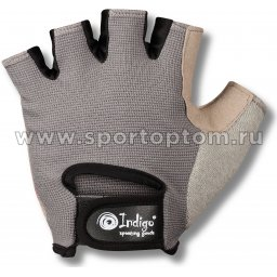 Перчатки для фитнеса женские INDIGO эластан,и/замша 97870 IR Серо-розовый