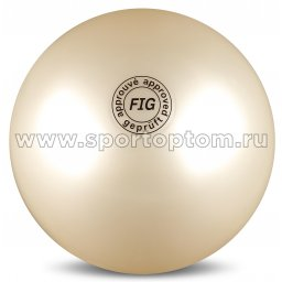 Мяч для художественной гимнастики силикон FIG Металлик 420 г AB2801 19 см Белый