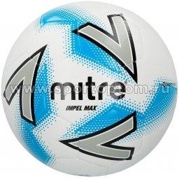 Мяч футбольный №5  MITRE IMPEL MAX HYPERSEAM тренировочный (термопластичн.PU) BB1120WIB Бело-серо-синий