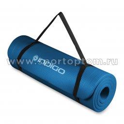 Коврик для йоги и фитнеса INDIGO NBR IN104 Синий (3)