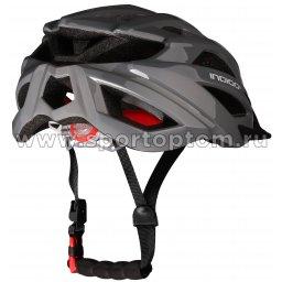Вело Шлем взрослый INDIGO, 21 вент. отверстий IN069 Серый (2)