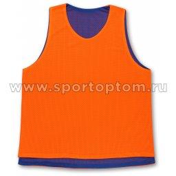 Манишка Сетчатая двухсторонняя SM-370 L Оранжево-синий