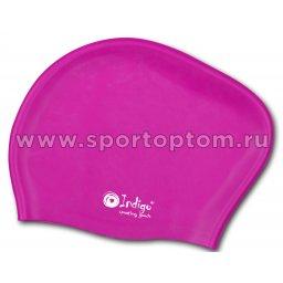 Шапочка для плавания силиконовая  длинные волосы INDIGO 812 SC Цикламеновый