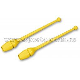 Булавы для художественной гимнастики INDIGO (термопластик) SM-352 36 см Желтый