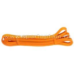 Эспандер резиновая петля сопротивления Кроссфит INDIGO 601 HKRBB 208*1,3см Желтый