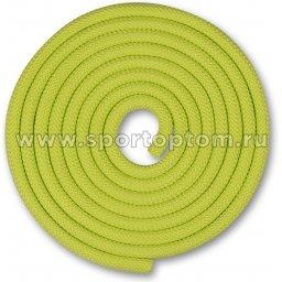 Скакалка для художественной гимнастики Утяжеленная 150 г INDIGO SM-121 2,5 м Салатовый