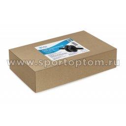 Ролик гимнастический 2 колеса INDIGO неопреновые ручки SM-342 Черный (2)