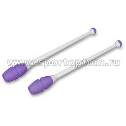 Булавы для художественной гимнастики вставляющиеся INDIGO IN019 45 см Бело-фиолетовый