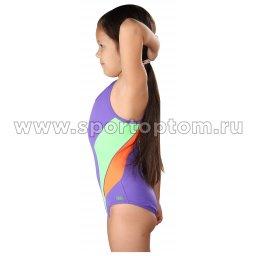 Купальник для плавания совместный детский со вставками SHEPA 045 Фиолетовый (4)