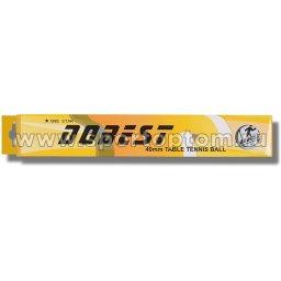 Шарики для настольного тенниса DOBEST 1 звезда 6шт  02-BA          40 мм Белый
