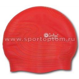 Шапочка для плавания силиконовая  INDIGO детская Волна SC307 Красный