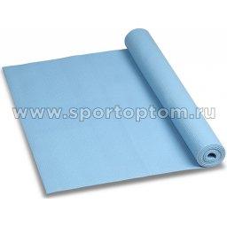 Коврик для йоги и фитнеса INDIGO PVC YG06 173*61*0,6 см Голубой