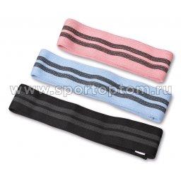 Эспандер в наборе 3 тканевых резинки разной нагрузки INDIGO IN150 8см*33/38/43см Розовый, голубой, черный