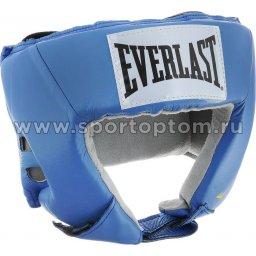 Шлем боксерский EVERLAST USA Boxing натуральная кожа  610206U M Голубой