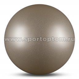 Мяч для художественной гимнастики силикон Металлик 300 г AB2803B 15 см Белый с блестками