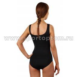 Купальник для плавания SHEPA совместный женский со вставками 031 Черно-голубой (2)