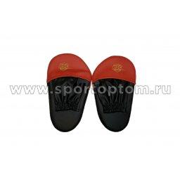 Лапа боксерская прямая большая RSC COMBAT и/к(пара) RSC009 34*19*4 см Черно-красный