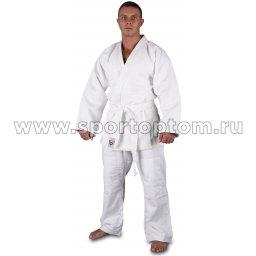 Кимоно дзюдо 28-30/120 хлопок куртка 600-650г/м2,брюки 280-320г/м2 RA-001 Белый