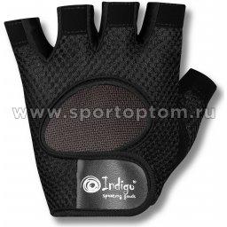 Перчатки для фитнеса INDIGO сетка полиэстер, спандекс 97877 IR Черный