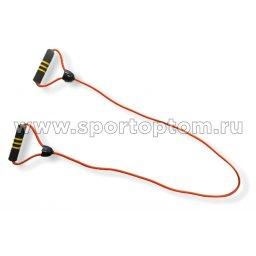 Эспандер для степа INDIGO неопреновые ручки 1 жгут SM-373 120 см Оранжевый