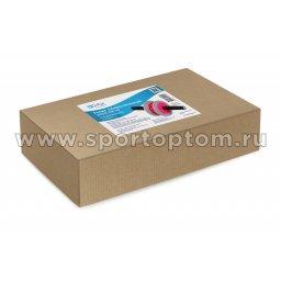 Ролик гимнастический 2 колеса INDIGO неопреновые ручки SM-342 Серо-розовый (2)