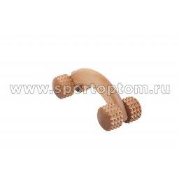 Массажер деревянный на ручке Коромысло зубчатый  МА8304