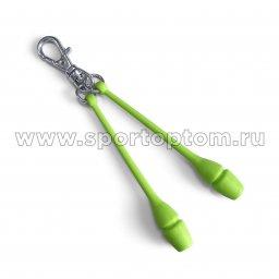 Сувенир брелок булавы для художественной гимнастики INDIGO SM-391 8 см Салатовый