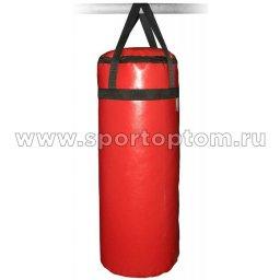 Мешок боксерский SM 15кг  на стропе (армированный PVC) SM-233 15 кг Красный