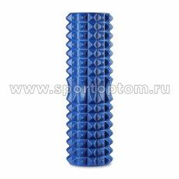 Ролик массажный для йоги INDIGO PVC IN268 синий (2)