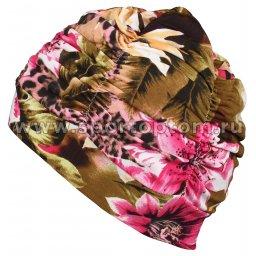 Шапочка для плавания ткань LUCRA SM женская  с драпировкой SM-092 Мультицвет (4)