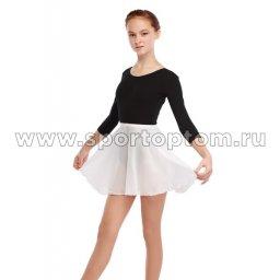 Юбочка гимнастическая на резинке шифон 32 см Ю 30-651 32-34 Белый