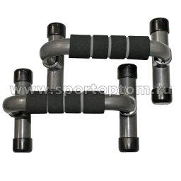 Упоры для отжиманий INDIGO пластиковый 97722 IR                  Черно-серый