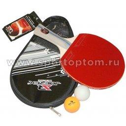 Набор для настольного тенниса JOEREX 3 звезды (1 ракетка, 2 шарика, чехол) 201В JTB