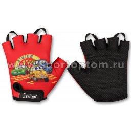Перчатки вело детские INDIGO Машинки SB-01-8872 3XS Красный