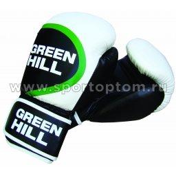 Перчатки боксёрские Green Hill WINNER PU FX  BGW-2212 14 унций Бело-черно-зеленый